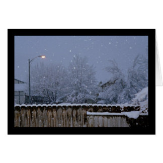 Snowy Evening- Song of Sol. 8:7 Greeting Card