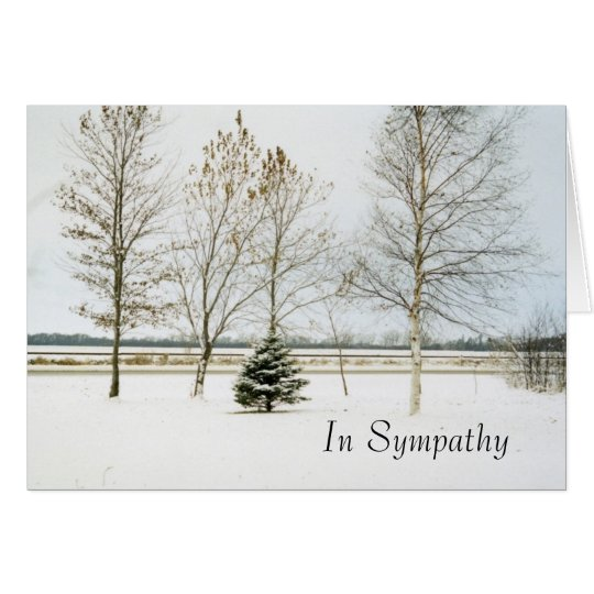 snowy evergreen1card, In Sympathy Card