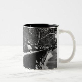 Snowy Fence Mugs