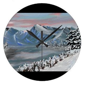 snowy field clocks