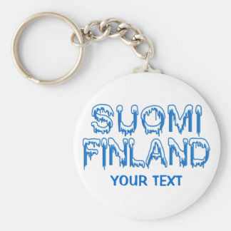 Snowy Finland custom key chain