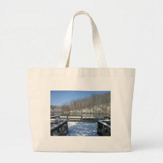 Snowy Fishing Dock Bags