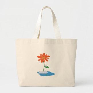 Snowy Flower Tote Bag