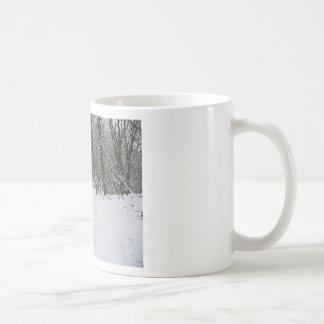 Snowy forest coffee mug