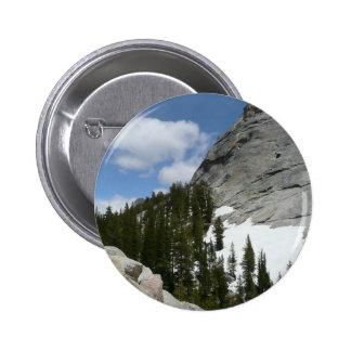 Snowy Granite Domes II Yosemite National Park 6 Cm Round Badge