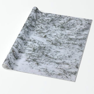 Snowy Grass Wrapping Paper