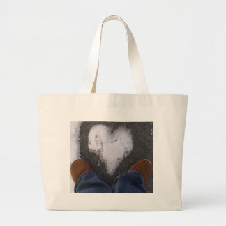 Snowy Heart Tote Bags