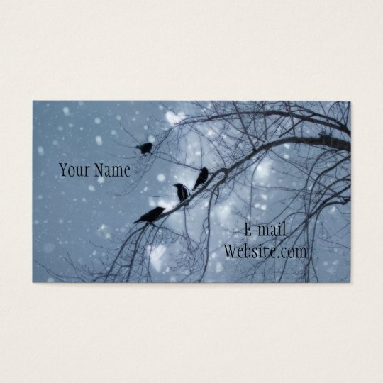 Snowy Hearts Business Card