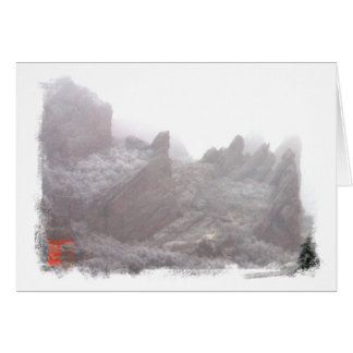 Snowy Hogbacks Card