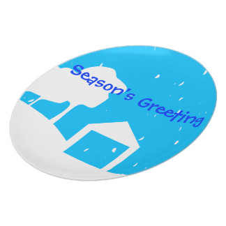 Snowy Holiday  Plate