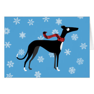 Snowy Hound Card