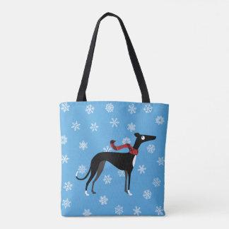 Snowy Hound Tote Bag