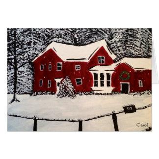Snowy House Holiday Card