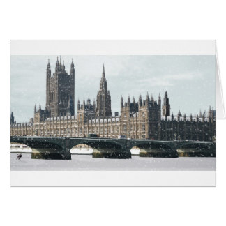 Snowy Houses of Parliament Greeting Card