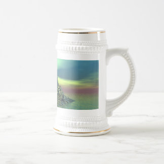 snowy island beer stien coffee mug