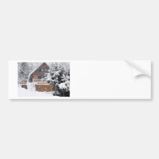 snowy landscape bumper sticker