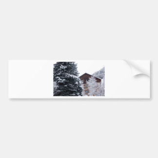 snowy landscape bumper stickers