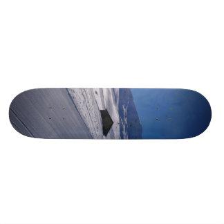 snowy landscape custom skateboard