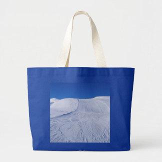 snowy landscape tote bags
