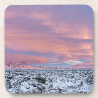 Snowy Lava field landscape, Iceland Coaster