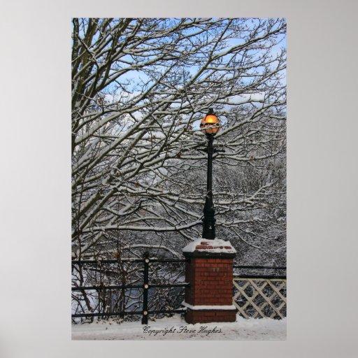 Snowy Light Scene Print