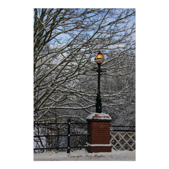 Snowy Light Scene Print