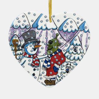 Snowy meets Martin Christmas Ornament