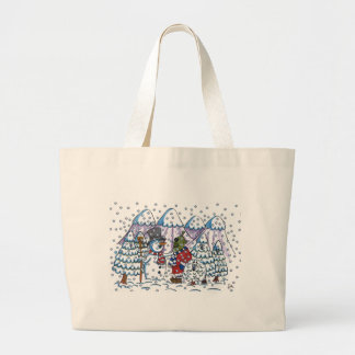 Snowy meets Martin Jumbo Tote Bag