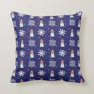 Snowy Men Cushion