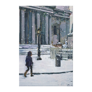 Snowy morning St. Paul's Cathedral 2009 Canvas Print