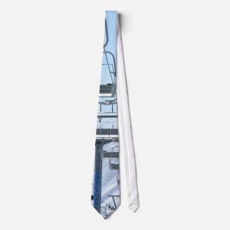 Snowy Mountain Chairlifts Tie
