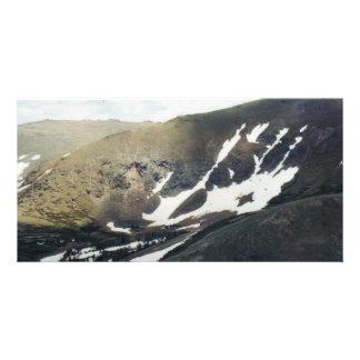 Snowy Mountain in Colorado Custom Photo Card