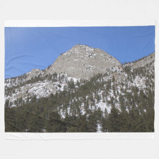 Snowy Mountain in Sun Fleece Blanket