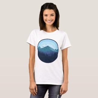 Snowy Mountain Landscape Women Shirt