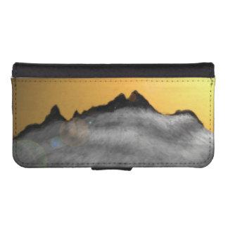 snowy mountain phone wallet case