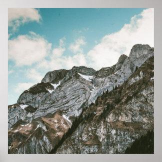 Snowy Mountain Poster