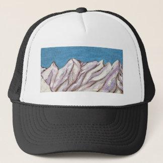 Snowy mountain trucker hat