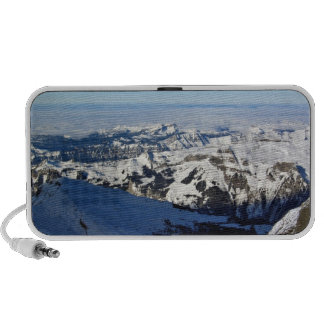 Snowy Mountains against blue sky Notebook Speakers