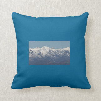 Snowy Mountains in Colorado Throw Pillow