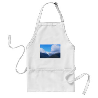 Snowy Mountains, New Zealand Glacier, Aerial View Standard Apron