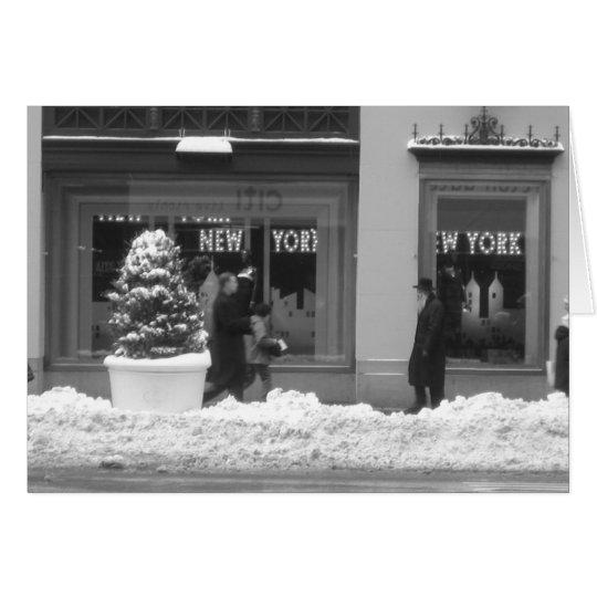 Snowy New York Christmas Card