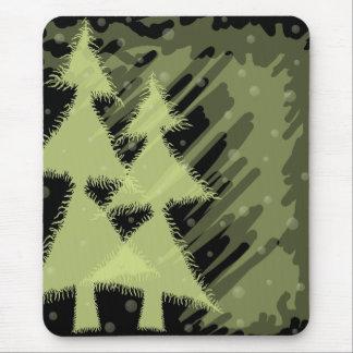 snowy night_black mouse mat