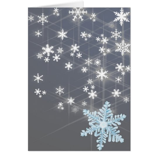 Snowy night Christmas note card