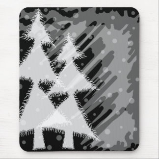 snowy night_grey mouse pads