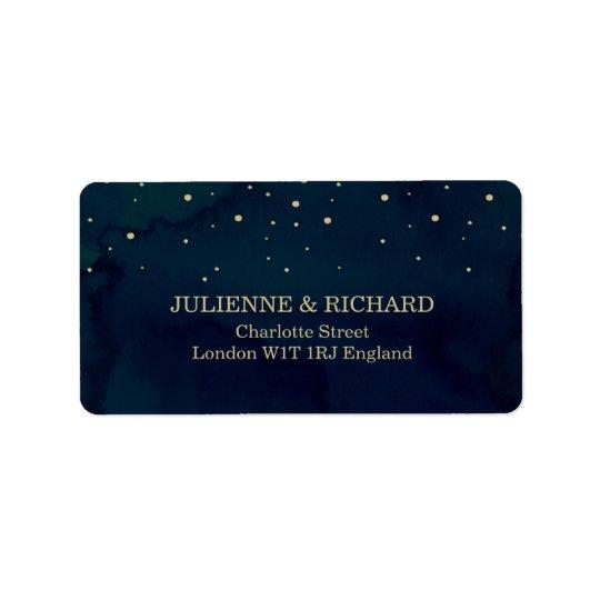 Snowy Night | Winter Wedding Address Labels