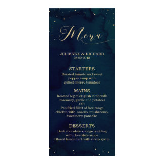 Snowy Night | Winter Wedding Menu