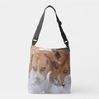Snowy Noses Beagles Crossbody Bag
