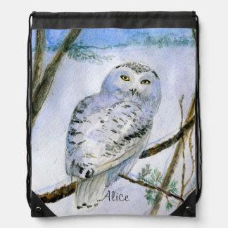 Snowy owl backpack