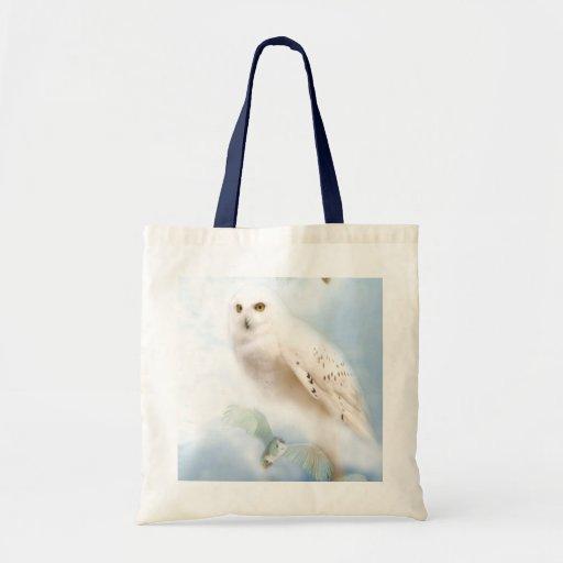 Snowy Owl Canvas Bags
