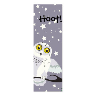 Snowy Owl Bookmark Pack Of Skinny Business Cards
